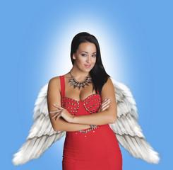 Beautiful and fashionable angel.