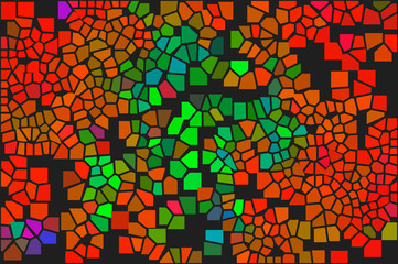 Color chaotic mosaic C. Glamour pattern.