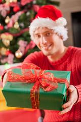 Man and his Christmas gift