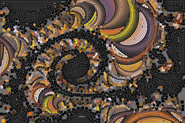 Color chaotic mosaic K. Glamour pattern.