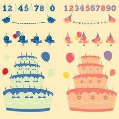 Happy birthday vector 3