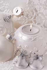 Candle, new-year balls