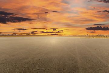 El Mirage Dry Lake Sunset