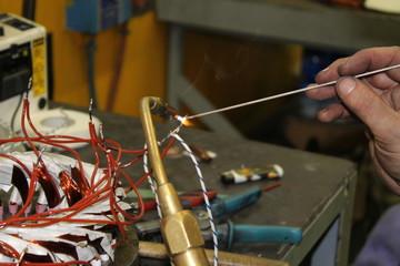 braze welding with filler material
