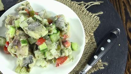 Fresh made Herring Salad (not loopable)