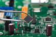 Leinwandbild Motiv Electronical components