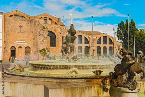 Fototapeta Piazza della Repubblica in Rome, Italy