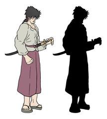 Samurai vector draw