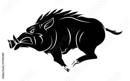 Wild Boar Tattoo Mascot - 73952487
