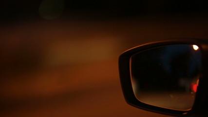 Car mirror at high speed