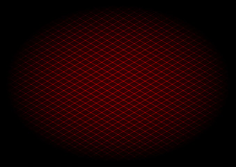 Red laser grid diagonal in ellipse