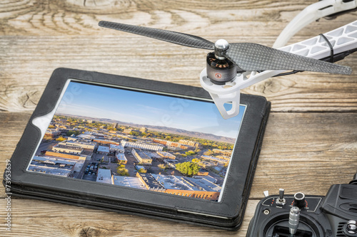 Poster Luchtfoto drone aerial photography concept