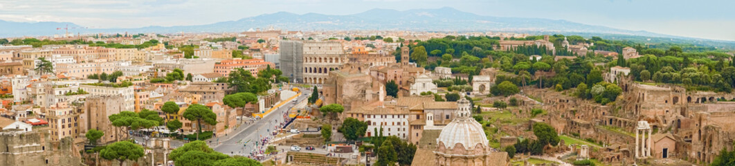 Aerial view Panorama of Rome