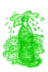 Bottle with Splash