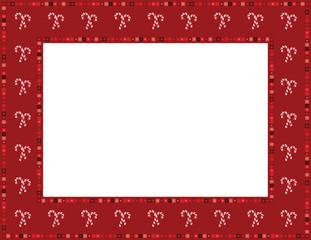 Christmas Candy Cane Frame