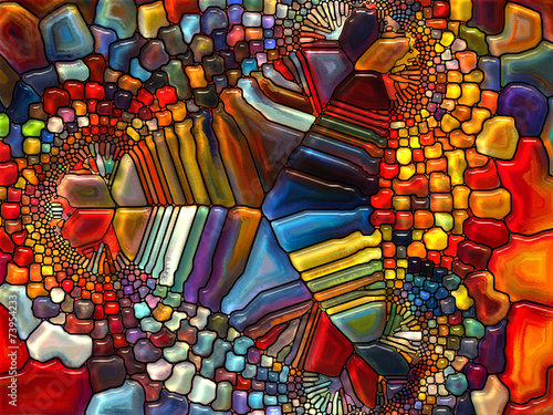 Foto Spatwand Glas In Lood Conceptual Stained Glass