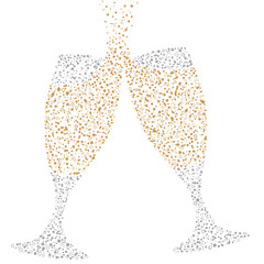 Champagne Glasses of bubbles
