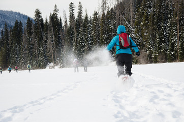 Running with Snowshoe