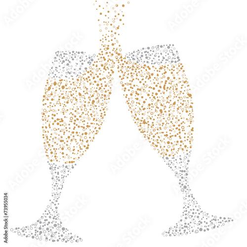 Champagne Glasses of bubbles
