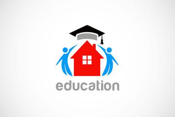 school education graduation logo vector