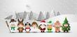 Obrazy na płótnie, fototapety, zdjęcia, fotoobrazy drukowane : Christmas cute kids