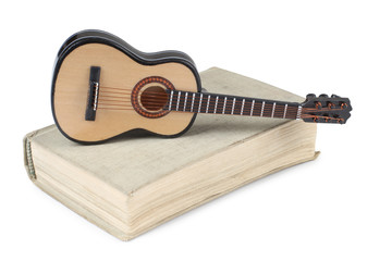Book and guitar