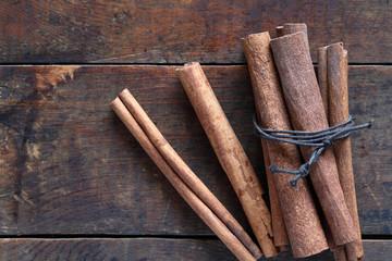 Dry Cinnamon On Wood