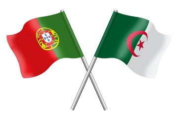 Flags: Portugal and Algeria