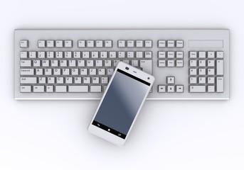 スマートフォンとキーボード