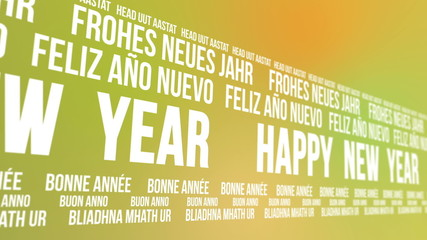 Happy New Year Scrolling Different Languages