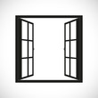 Windows-half open window vector - 73958493