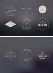 39 Trendy Retro Vintage Insignias Bundle
