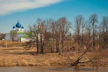 Spring landscape with the Suzdal Kremlin