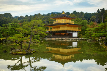 Kinkakuji Temple (The Golden Pavilion) in Kyoto