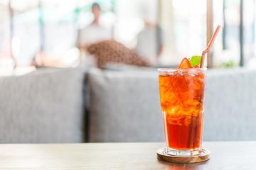Strawberry juice cocktail