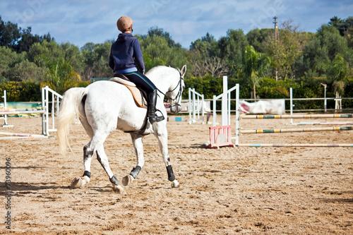 Fotobehang Paardrijden horse riding