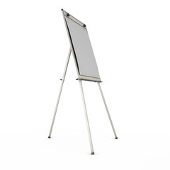 advertising stand or easel isolated on white background