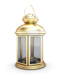Gold decorative lantern in the old style