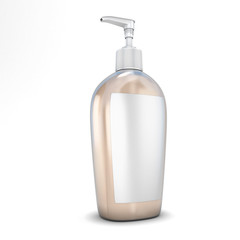 Plastic bottle with soap