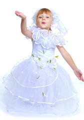 Lovely girl in white dress.