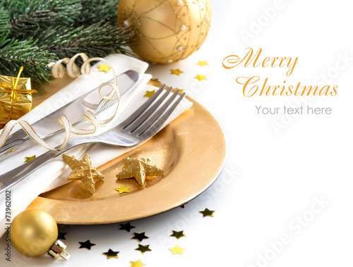 Fotobehang Boord Festive table setting