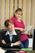 portrait of female manager and her secretary in the office