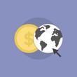 Web money flat icon illustration