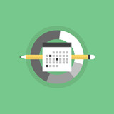 Business schedule flat icon illustration
