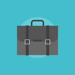 Business travel bag flat icon illustration