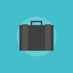 Business briefcase flat icon illustration