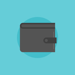 Wallet flat icon illustration