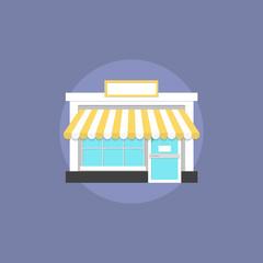 Small shop flat icon illustration