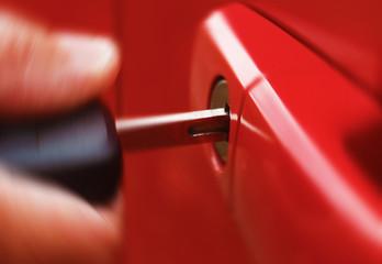 Key in red car