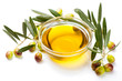 Olive oil and olive fruits - 73963227
